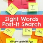 Sight Words Post-It Search