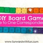DIY Board Game to Teach One to One Correspondence