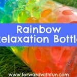 Rainbow Relaxation Bottles: Water Bead Crafts