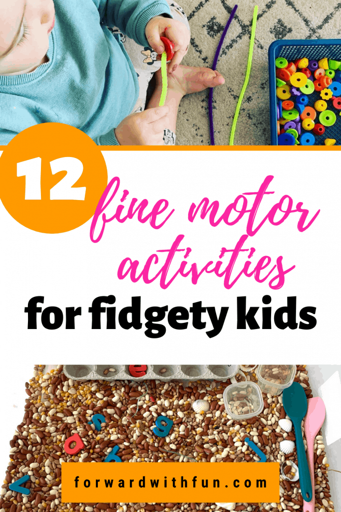 shows examples of two of the 12 activities for fine motor skills
